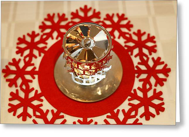 Greeting Card featuring the photograph Spinning Tea Light Holder by Paul Indigo