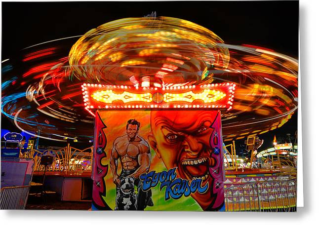 Spinning With Egon Greeting Card by David Lee Thompson