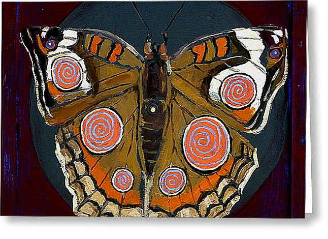Spiral Butterfly I Greeting Card by Shira Chai