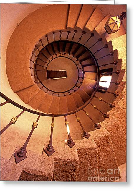Spiral Castle Stairs Greeting Card by Paul W Faust -  Impressions of Light