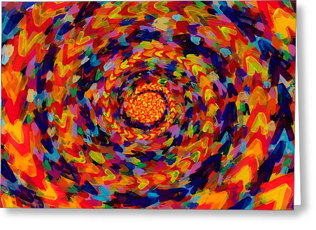 Spiral Color 14-49 Greeting Card by Patrick OLeary