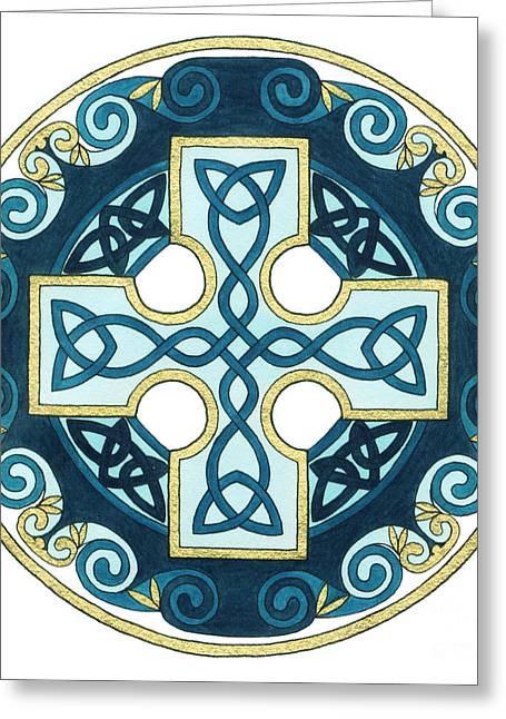 Spiral Cross Greeting Card by Cari Buziak
