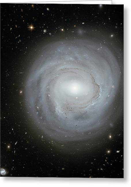 Spiral Galaxy Ngc 4921 Greeting Card by Nasa/esa/stsci/k. Cook, Llnl