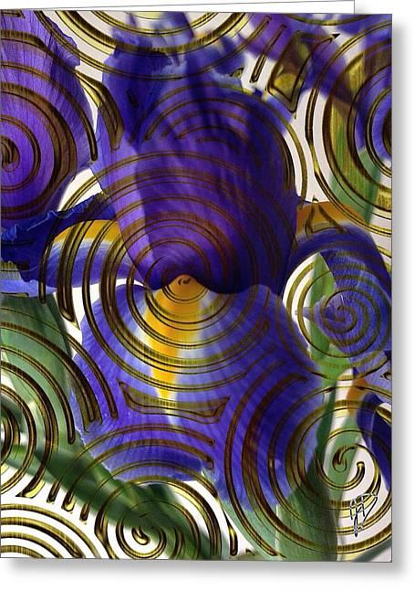 Spiral Iris Greeting Card
