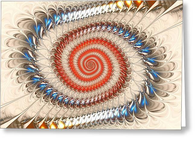 Spiral Journey Greeting Card by Anastasiya Malakhova