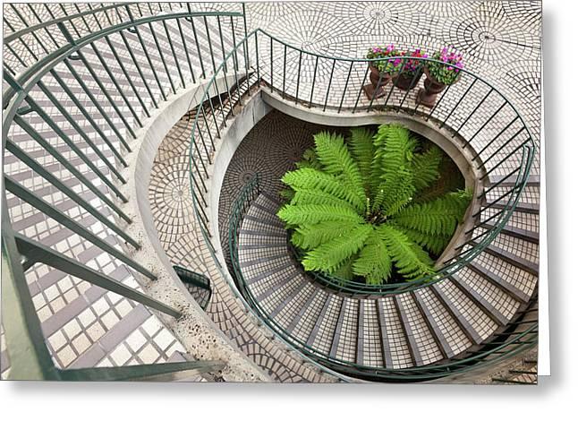 Spiral Staircase At The Embarcadero Greeting Card
