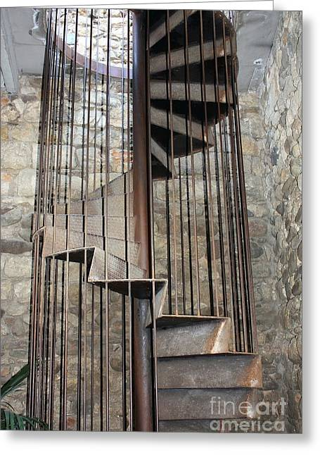 Spiral Staircase Greeting Card by Sophie Vigneault