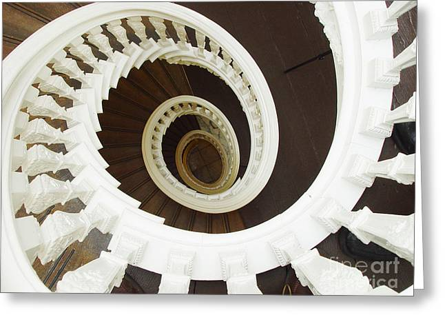 Spiral Stairs From Above Greeting Card