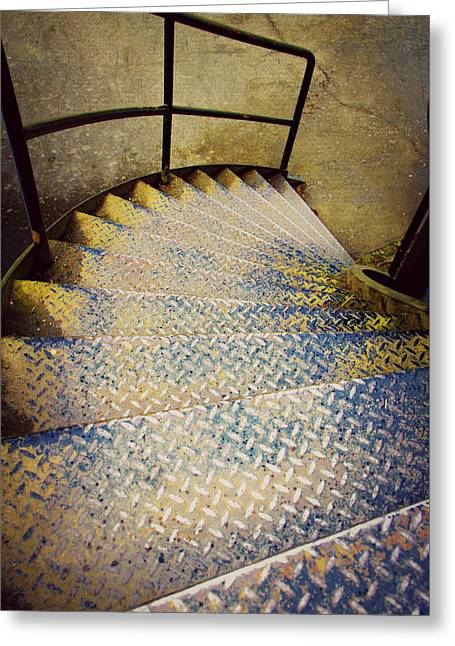 Spiral Stairs Greeting Card