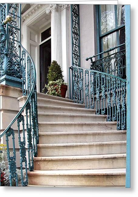 Spiral Stairs Greeting Card by Sarah-jane Laubscher