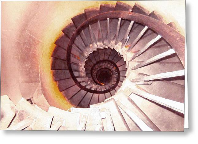 Spiral Stairway Greeting Card by Lanjee Chee