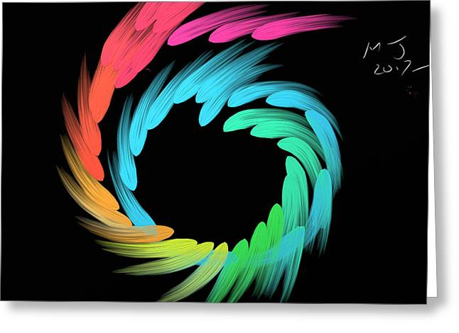 Spiralbow Greeting Card by Michael Jordan