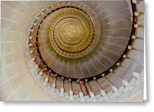 Spirale Du Phare Des Baleines Version Carree Greeting Card