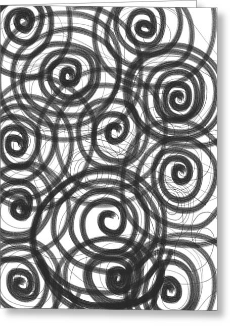 Spirals Of Love Greeting Card