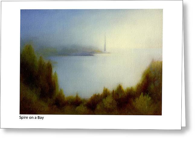 Spire On A Bay Greeting Card