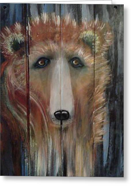Greeting Card featuring the painting Spirit Bear by Carol Duarte
