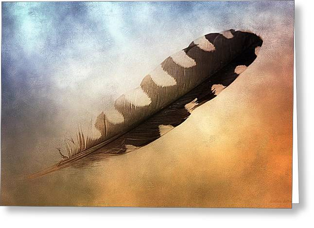 Spirit Feather Greeting Card by Melissa Bittinger