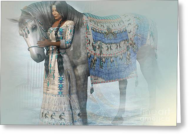 Spirit Horse Greeting Card by Shadowlea Is