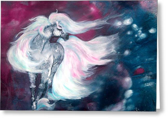 Spirit Horse Greeting Card by Sherry Shipley