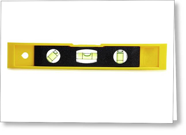 Spirit Level Greeting Card by Science Photo Library