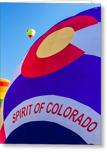 Spirit Of Colorado Proud Greeting Card by Teri Virbickis