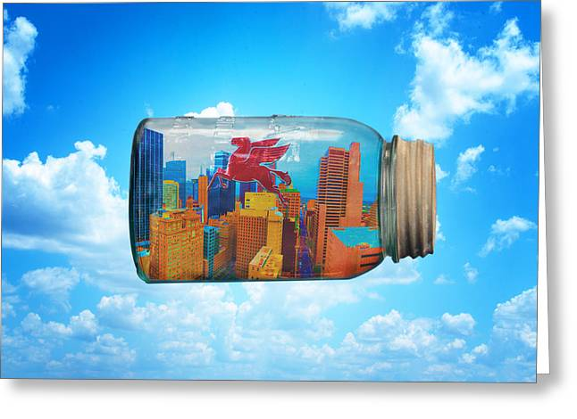 Spirit Of Dallas Greeting Card by David Clanton