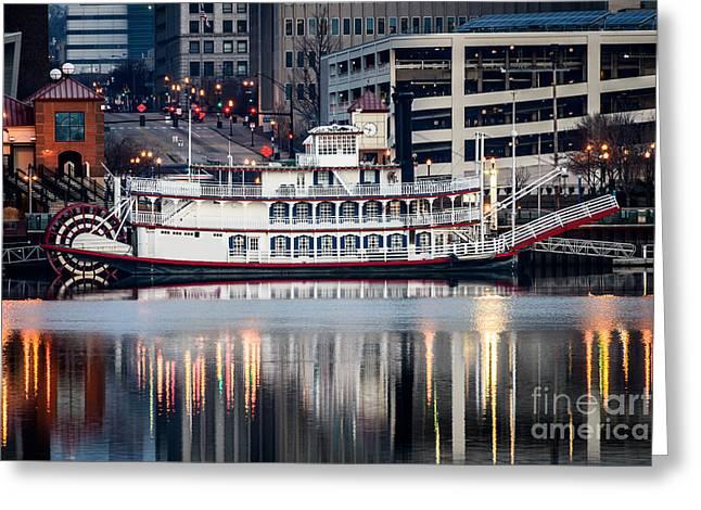 Spirit Of Peoria Riverboat Greeting Card