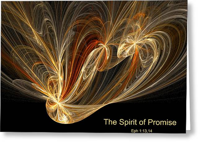 Spirit Of Promise Greeting Card by R Thomas Brass