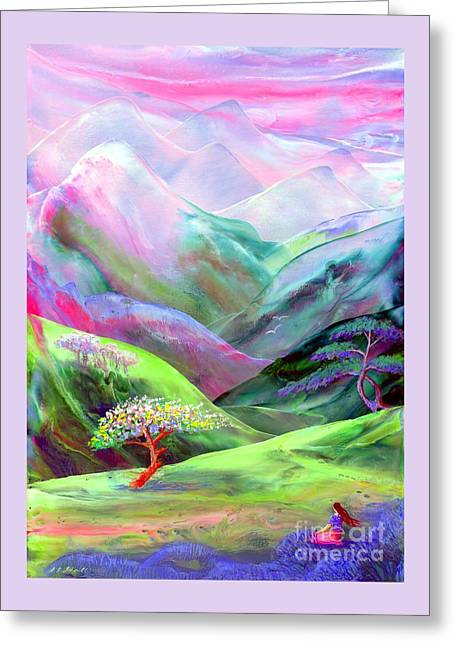 Spirit Of Spring Greeting Card by Jane Small