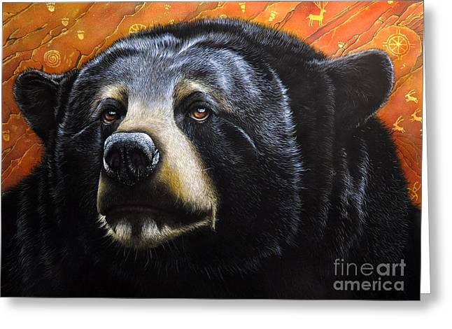 Spirit Of The Bear Greeting Card by Jurek Zamoyski