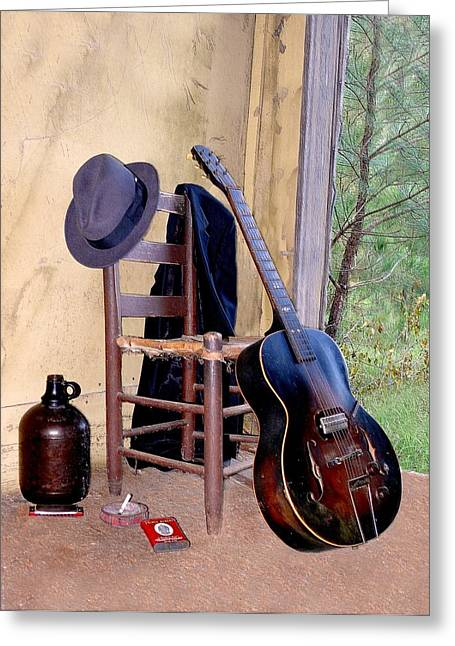 Spirit Of The Blues 2 Greeting Card by EG Kight