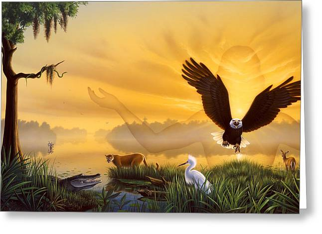 Spirit Of The Everglades Greeting Card by Jerry LoFaro