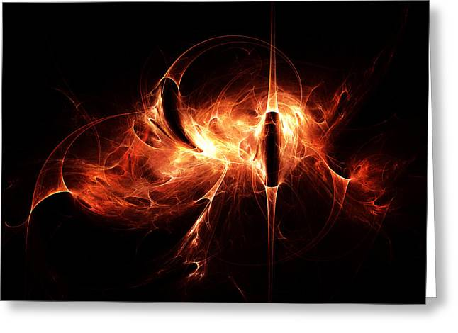Spirit Of The Flame Greeting Card by Peter Chasse