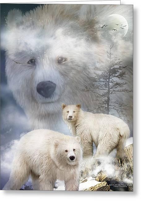 Spirit Of The White Bears Greeting Card