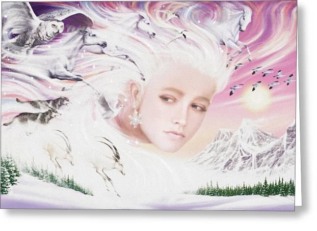 Spirit Of Winter Greeting Card by Garry Walton