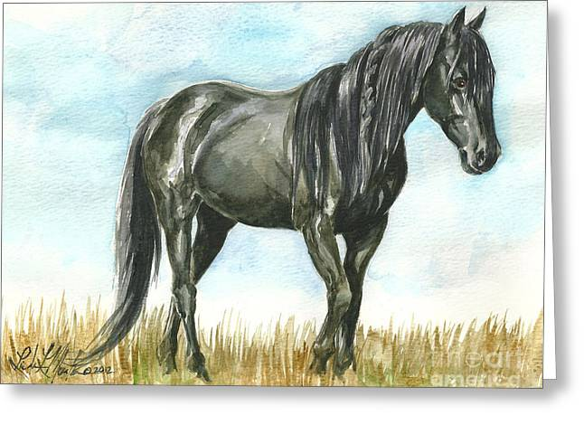 Spirit Wild Horse In Sanctuary Greeting Card