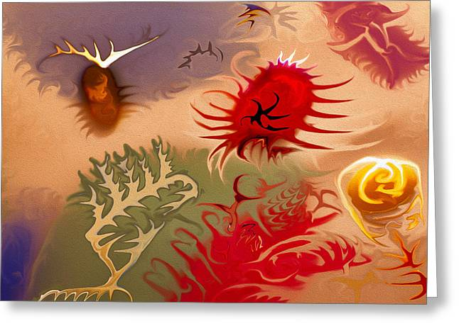 Spirits And Roses Greeting Card by Omaste Witkowski