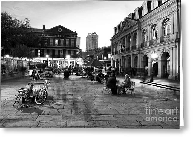 Spirits In Jackson Square Greeting Card by John Rizzuto