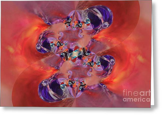 Greeting Card featuring the digital art Spiritual Dna by Margie Chapman