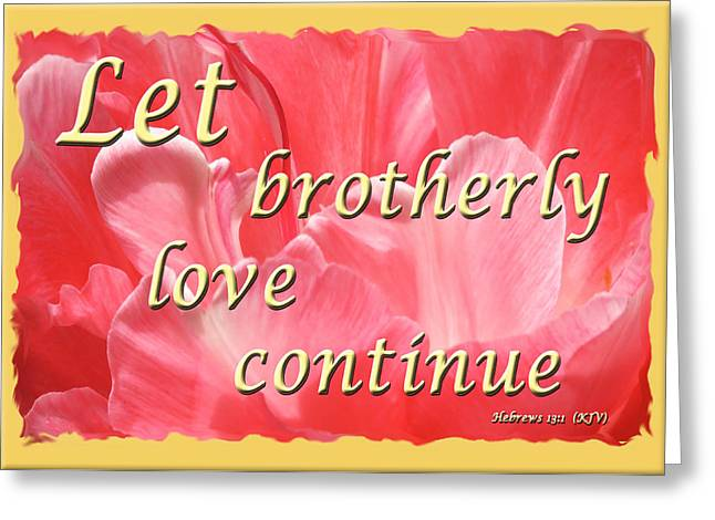 Spiritual Love - Bordered Greeting Card by Terry Wallace