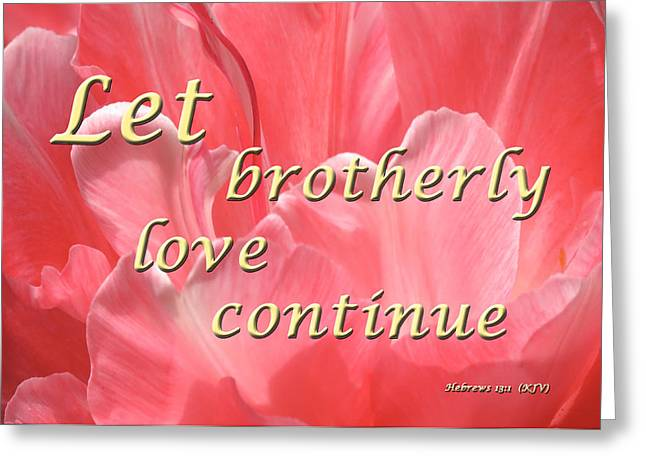Spiritual Love Greeting Card by Terry Wallace