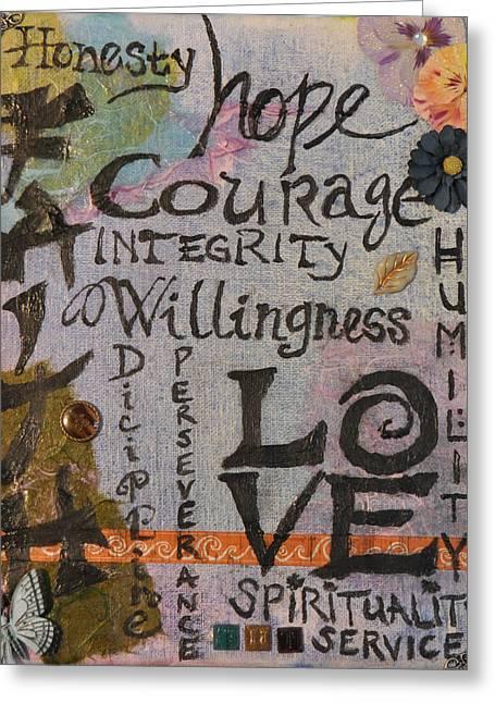 Spiritual Principles Greeting Card