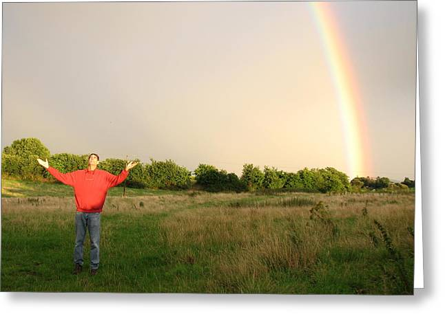 Spiritual Radiant  Light Greeting Card by Joseph Doyle