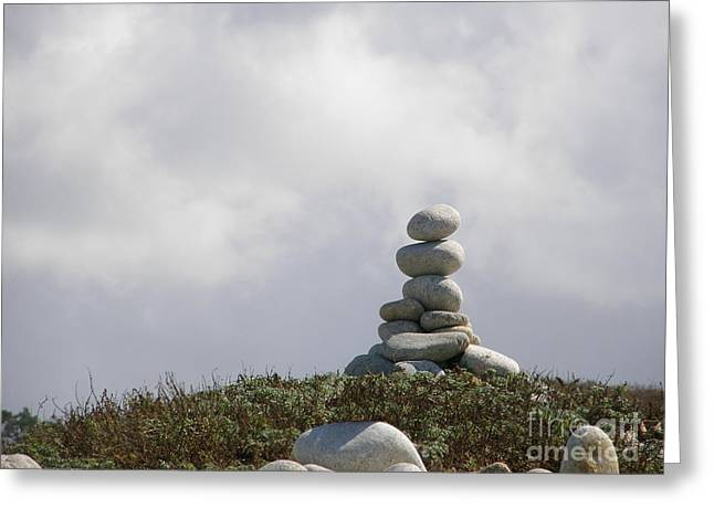 Spiritual Rock Sculpture Greeting Card by Bev Conover