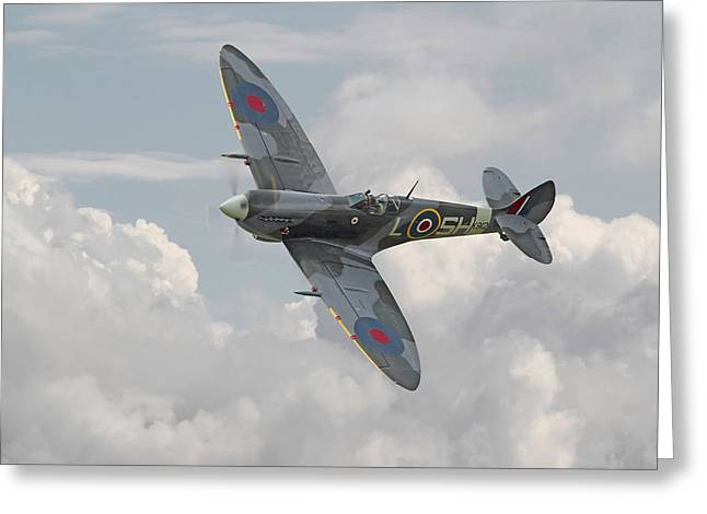 Spitfire - Elegant Icon Greeting Card by Pat Speirs