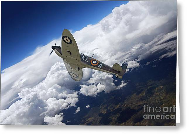 Spitfire Free  Greeting Card