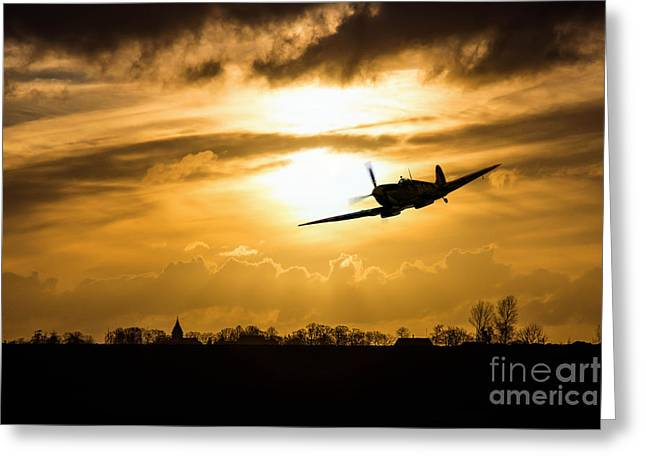 Spitfire Lines  Greeting Card