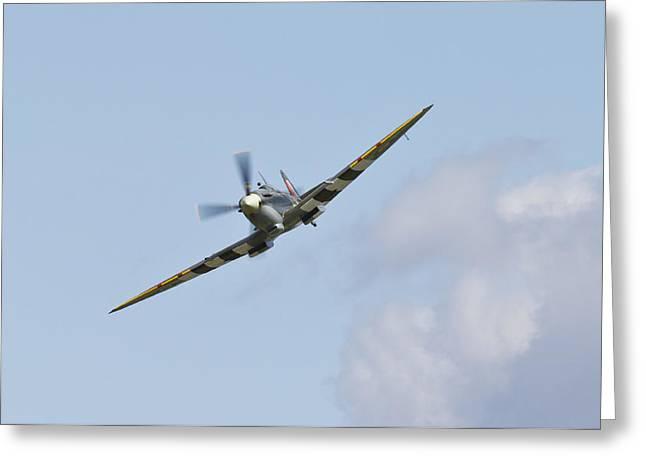 Spitfire Greeting Card by Maj Seda