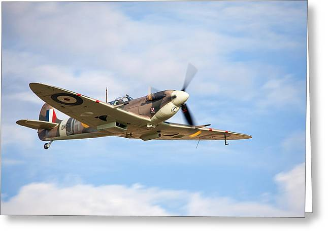 Spitfire Mk5 Low Pass Greeting Card by Ian Merton