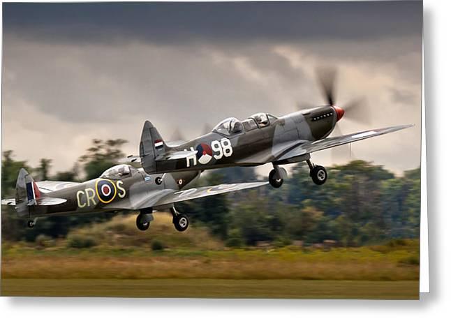 Spitfire Parade Greeting Card